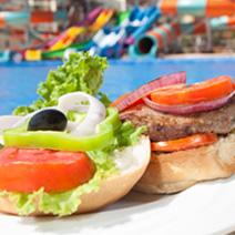 Menu and food court