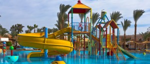 Waterpark slides and fun