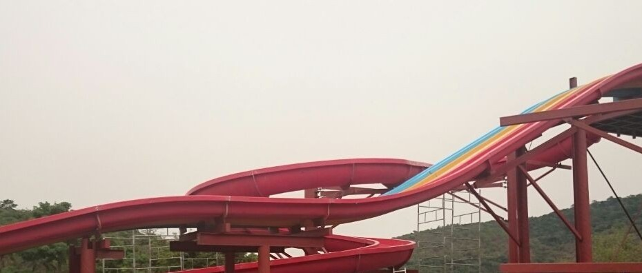 Building SplashWorld Water Park slides and rids